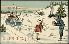 Gldelig Jul! (National Library of Norway) Tags: christmas barn children toys postcards fatherchristmas santaclaus christmascards jul julekort julenissen leker postkort nasjonalbiblioteket hytider nationallibraryofnorway