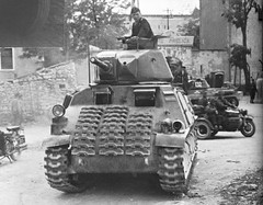 Somua S35 tank captured and used by the Germans.