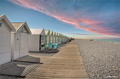 White houses (Jean-Michel Priaux) Tags: sky house holiday beach stone photoshop way see stones line plage hdr manche cabane picardie somme cayeux priaux