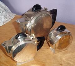 Vintage Art Deco Christofle? Silver Plate Tea Set (karalennox) Tags: vintage 1930s round teapot artdeco teaset silverplate