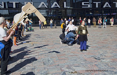 "Strange Ritual at Rotterdam Central Station • <a style=""font-size:0.8em;"" href=""http://www.flickr.com/photos/45090765@N05/20922761033/"" target=""_blank"">View on Flickr</a>"