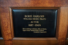 Boris Karloff Plaque, St Paul's Church, Covent Garden (Bolckow) Tags: boriskarloff karloff williamhenrypratt