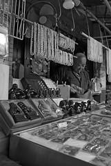 Pearls (_MissMoneyPenny_) Tags: old travel white holiday man black island market pearls hong kong souvenir mercato bianco nero viaggio vacanza perle lantau isola anziano