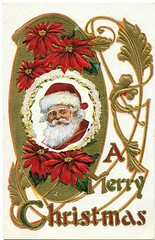Antique Christmas Postcard - A Merry Christmas (Brynn Thorssen) Tags: santa christmas xmas red holiday snow green vintage gold antique holly postcards yule fatherchristmas santaclaus merrychristmas santaklaus happynewyear happychristmas yuletide oldsaintnick