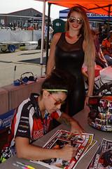 The racer and the grid girl (albionphoto) Tags: usa honda nj racing ktm blonde yamaha suzuki superbike supersport thunderbolt racergirl gridgirl millville superstock1000 superstock600 amapro njmp motoamerica ktmrccup