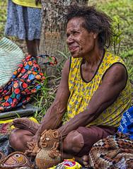 Woman Selling Souvenirs, Bien Village, Papua New Guinea (bfryxell) Tags: papuanewguinea oceania melanesia sepikriver bienvillage