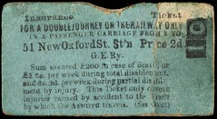 Emily Wilding Davison's rail insurance ticket