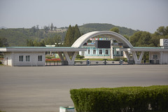 (chadocarroll) Tags: park trees field gate outdoor olympic northkorea entrace pyongyang mangyongdaefunfair mangyongdaeguyok