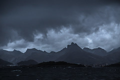 Rainy Svolvr, Lofoten (cpphotofinish) Tags: ocean blue autumn light sky panorama mountain color colour reflection fall water rain weather norway clouds canon dark landscape outside island eos daylight norge photo reflex day skies foto image harbour outdoor panoramic norwegian nordic dslr scandinavia canondslr lofoten havn bilder vann bluelight skyer kaia hst hurtigruten landskap bilde svolvr norske farger mk3 nordland skandinavia svinya f4l canonef ef24105mmf4lisusm carstenpedersen canonmkiii mklll canon5dmk3 eos5dmk3 verdensvakrestesjreise cpphotofinish canonredlable