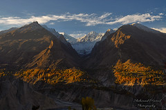 Hunza Morning (Shehzaad Maroof Khan) Tags: morning november autumn homes pakistan light sunlight snow mountains love river nikon villages valley karakoram hunza magical gilgitbaltistan