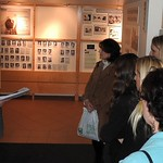Students and professors at a museum tour