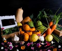 Verduras (Frabisa) Tags: salad tangerines persimmons honey miel ensalada mandarinas arugula vinaigrette caquis vinagreta rcola