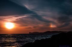Tramonto colorato! (santi_riccardo) Tags: sardegna italia nuvole sole alghero capocaccia iridescenti
