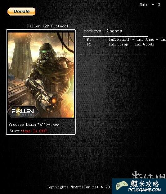 Fallen: A2P Protocol 五項修改器 v1.1.2