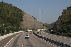 Big cutting on the North Lantau Highway at Yam O (Marcus Wong from Geelong) Tags: hongkong driving road freeway kowloon lantauisland hongkong2013