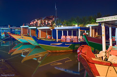 The Boats of Hoi An (Aubrey Stoll) Tags: tourism reflections boats asia southeastasia colours fishermen tourist unesco worldheritagesite vietnam hoian anchor designs waters bluehour asean moored oldquarter centralvietnam cruiseboats