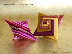 Spiral Stern by Tomoko Fuse (esli24) Tags: christmas festive star origami seasongreetings origamistar tomokofuse origamistern ilsez spiralstern