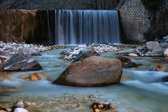 Fountain of life... (Michael Kalognomos) Tags: mountain nature water forest canon river landscape eos waterfall rocks long exposure greece milky 24105 loutra 70d pozar aridaia