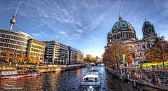 The Spree River. Berlin (Fisheye Vision) (Abariltur) Tags: berlin germany spain berlinerdom castelln lustgarten museumisland fernsehturmberlin berlincathedral riverspree nikond90 afsdxnikkor1024mmf3545ged abariltur museumislandinthemitteborough evangelicalsupremeparishandcollegiatechurchinberlin