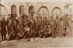 Firemen in Fire-Fighting Clothes, 10-18-1912