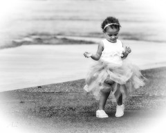 Dance as Though No One is Watching - B&W (A Anderson Photography, over 1 million views) Tags: tutu canon mono dancer tinydancer