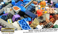 Basic rules of construction toys (EVWEB) Tags: humor fun lego minifigures comics catoon emmet movie building toy construction instructions bricks bricksburg