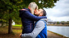A & M (MHPhotography91) Tags: shooting portrait love couple outdoor boy girl lovers people two beautiful cute lifestyle romantic happy photography kiss relationship together embracing belgium river dog complicity mh canon 50mm 14 mhphotography