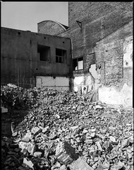 Siemianowice lskie, Poland. (wojszyca) Tags: mamiya rz67 6x7 120 mediumformat panorama stitched 75mm shift gossen lunaprosbc epson 4990 rollei rpx 25 hc110 163 industrial decay ruins abandoned brick wall postindustrial uppersilesia