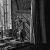 Inspiration (Martyn.A.Smith LRPS) Tags: machinery window shadows curtain indoors monochrome fujifilm xti