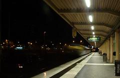 Ahh - missed it! (Silva_D) Tags: ljus lights night natt lngslutartid longexposure train tg station alingss vstragtaland vstergtland sweden