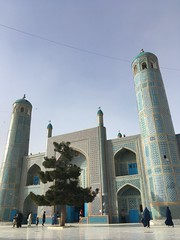Mazar - Blue Mosque (Dreadful Dan G) Tags: afghanistan travel mazar mazarisharif mosque