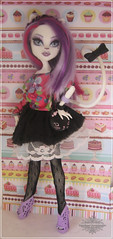 Look do dia: Catrine DeMew. (Mariane Dorateotto) Tags: monster high catrine demew mew cat doll mattel look