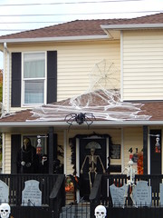 Adding elements (Morganthorn) Tags: halloween haunted house spooky creepy skeleton spider ghost ghoul zombie horror
