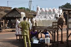 Gari for sale on the roadside in Benin. Photo D.Dufour/CIAT-RTB