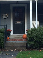 Bethesda stoop in fall (KFiabane) Tags: bethesda maryland autumn frontporch