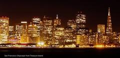 San Francisco Cityscape from Treasure Island (kevinstewart4) Tags: bridges bridge sky city bayarea majestic nightphotography skyline cityscape sanfrancisco