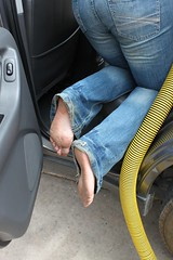 12227233_1067164689990832_1327349963538267024_n (paulswentkowski1983) Tags: dirty feet blue jeans female barefoot barefeet foot soles filthy black red toes outdoors sexy fetish