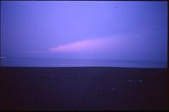 (✞bens▲n) Tags: pentax lx fa 31mm f18 limited film slide provia 100f japan shizuoka longexposure morning sunrise ocean water blue cloud sky beach dark