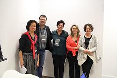 Palestrantes e organizadoras do seminario
