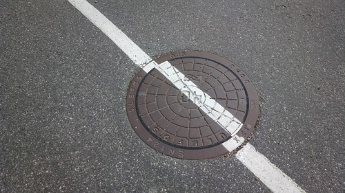 Misplaced manhole cover