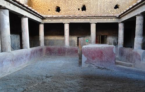 Péristyle rustique, Villa de Poppée, Oplontis, Torre Annunziata, Campanie, Italie.