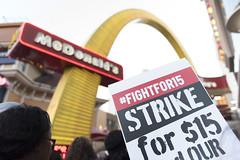 Fight for $15 demonstrations in Las Vegas, morning (FreezeTimeDigital) Tags: lasvegas nv usa
