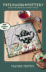 TeaTime Trivets - PDF pattern 21 (PatchworkPottery) Tags: tea teapot teacup mugrug trivet potholder quilted applique patchwork pattern digital patchworkpottery