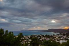 The Rain Is Coming ( A View of Pefkos Village - Rhodes) (Greece)  (Olympus OM-D EM5 & mZuiko 9-18mm Wide Zoom) (1 of 1) (markdbaynham) Tags: rhodes rhodos pefkos greece greek greka grecia clouds sky view landscape gr olympus omd em5 csc mirrorless evil mft m43 micro43 mz zd zuikolic mzuiko 918mm wide zoom