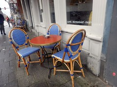 Small Furniture (Quetzalcoatl002) Tags: furniture small italian cafe street tiny ashtray chairs amsterdam blue table caff