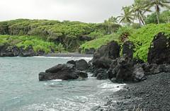 Waianapanapa Black Sand Beach, Hana, Maui, Hawaii (trphotoguy) Tags: hana maui hawaii hanahighway rainforest blacksandbeach waianapanapa waianapanapastatepark volcanicrock volcanicisland