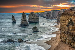 The Apostles. Version 2.  The Great Ocean Road.  Victoria, Australia (see related photos in my Australia Album) (LKungJr) Tags: landscape theapostles greatoceanroad australia victoria seascape nature