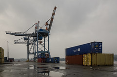 Cranes and containers (AstridWestvang) Tags: containers crane harbour industry larvik