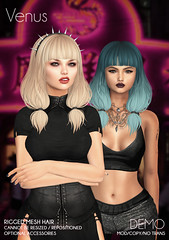New Venus hair @ The Crossroads! (Wasabi Pills) Tags: wasabipills hair mesh 3d secondlife spirit pixicat ikon buzzeri fiore lelutka league maitreya kibitz stardust