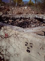 Marilyn Monroe stencil (EllenJo) Tags: grafitti art stencil spraypaint marilyn marilynmonroe icehouse ruins clarkdale az arizona pentax qs1 pentxqs1 december 2016 ellenjo ellenjoroberts